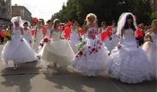 В Назарово впервые прошёл парад невест