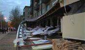 Вечерний переполох в Назарово. Рухнула крыша магазина
