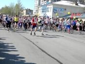 В легкоатлетическом пробеге приняли участие более 180 человек