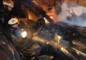 В поселке Строителей неизвестные подожгли автомобиль