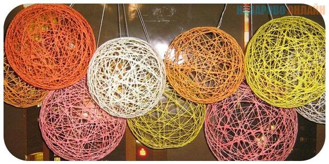 Сделать шарик из ниток