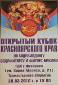 Отрытый кубок Красноярского края по бодибилдингу