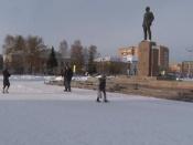 День революции в городе Назарово прошел тихо