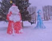В поселке Строителей открыли снежный городок