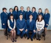 Сотрудники прокуратуры принимают поздравление с профессиональным праздником