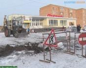 Коммунальщики устраняют аварию на 30 лет ВЛКСМ