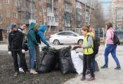 В городе Назарово начинается весенняя генеральная уборка