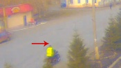 На дороге города Назарово замечен инспектор ГИБДД без мотошлема