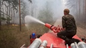 Пожарные бригады угледобывающих предприятий СУЭК помогают в ликвидации пожаров