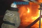 В городе Назарово в огне погиб мужчина