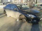 В городе Назарово пока не нашли воров колес