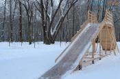 В этом году в городе Назарово вновь установят деревянные горки