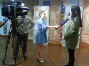 Участницу Назаровской молодежной телепрограммы «Моё ТВ» отметили за профессионализм
