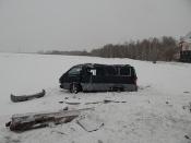 На трассе в Назаровском районе перевернулся рейсовый микроавтобус «Ужур –Красноярск»