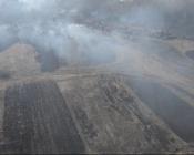 Аграрий устроил пожог в поле Назаровского района