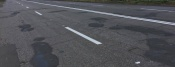 В этом году в городе Назарово решили применить новую краску для дорожной разметки