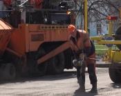 Назаровские дорожники выполнили ямочный ремонт
