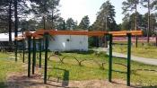 В загородном лагере «Спутник» монтируют полосу препятствий