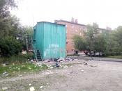 В городе Назарово резко обострилась проблема с мусором