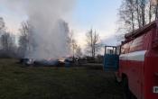 В Назаровском районе горело сено на площади 6 тысяч квадратных метров (фото)