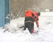 Высота снежного покрова в городе Назарово превышает 22 сантиметра