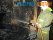 В городе Назарово при пожаре в квартире погибла женщина