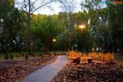 В городе Назарово появился сквер «Школьный». Новое место отдыха получило имя