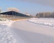Аномальное потепление не повлияло на работу катка в городе Назарово