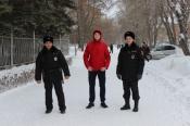 В городе Назарово «Студенческий десант» вышел в рейд с нарядом ППС
