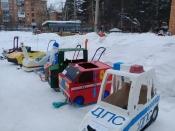 В городе Назарово смастерили чудо – сани безопасности