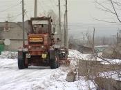 В городе Назарово началась масштабная уборка улиц частного сектора
