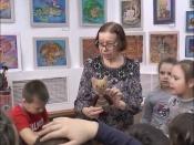 Назаровских дошкольников научили вязать кружево и игрушки