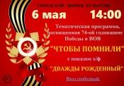 Программа с кинофильмом ко Дню Победы