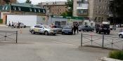 На перекрестке 30 лет ВЛКСМ и Маркса автомобильный затор из-за аварии