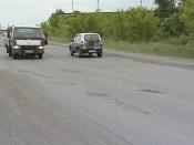 Щебень в ямах на дорогах города Назарово - это не ремонт