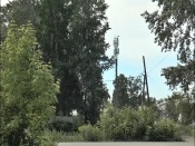 На улице Чехова появилась 29-метровая металлическая конструкция