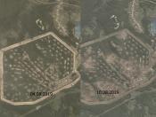 Как выглядит Каменка после взрывов показали с американского спутника
