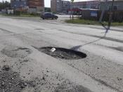 Разбитый участок дороги на Советской отремонтируют