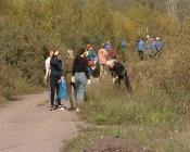 Впервые в городе Назарово провели экологическую акцию «День реки Чулым»
