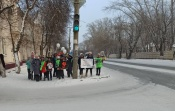 Юные назаровцы почтили память погибших на дорогах