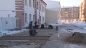 Назаровцы остались недовольны строительными работами около школы №2