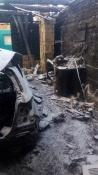 Назаровские погорельцы поблагодарили пожарных за спасённое жильё