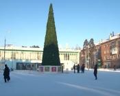 Делать ледовые фигуры в городе Назарово пожелали питерцы, но они пропали