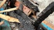 Назаровцы в панике выбегали на балконы во время пожара