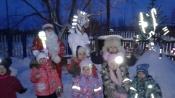 В Назаровском районе дошкольников встречает световозвращающая инсталляция