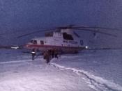 Огромный вертолет остался «ночевать» в Назаровском районе
