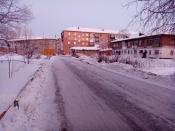 Почти 3 тысячи кубометров снега вывезли дорожники в городе Назарово