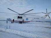 Вертолёт МИ-26 благополучно улетел в Новосибирск из Назаровского района