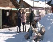 Болото помешало вывозить мусор с тупиковой улицы в городе Назарово