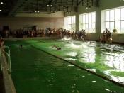 В бассейне поселка Степной Назаровского района прошли соревнования